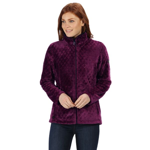 Women's Halona Velour Full Zip Fleece Prune